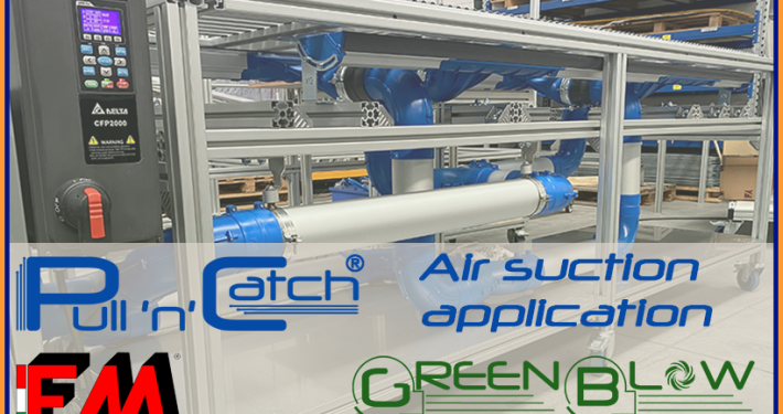 PULL'n'CATCH® for contaminated air filtration in processing with hotmelt glue. Avoid contaminated air come into contact with operators.